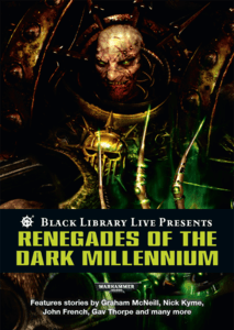 Renegades of The Dark Millennium (couverture originale)
