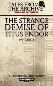 The Strange Demise of Titus Endor (couverture originale)