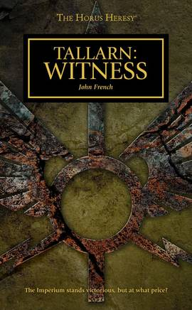 Tallarn : Witness (couverture originale)